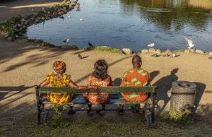 nr 19 Evelyn Pettersson Fiig - aftensol ved vandet